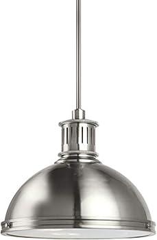 Sea Gull Lighting Pratt Street Metal Brushed Nickel 16 Inch LED Pendant