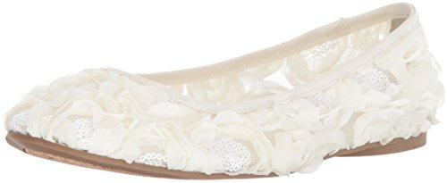 Adrianna Papell Women's Bernadette Ballet Flat, Ivory Botanica Sequin, 7.5 M US