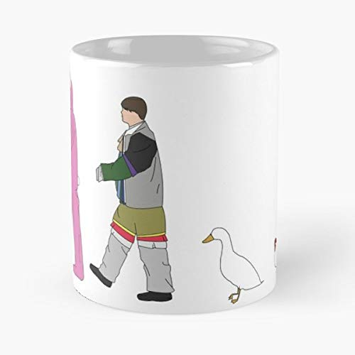 Joey Friendship Duck Chandler Love Chicken Friends Relationship - Best 11 oz Kaffeebecher - Taza de café de regalo de moda superventas negra, blanca, cambia de color 11 onzas, 15 onzas para todos
