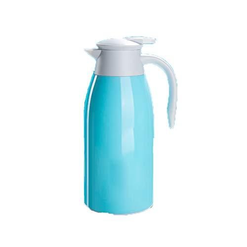 Aoyo Haushaltsisolationskanne Kaffeekanne, Thermoskanne Im Europäischen Stil, Isolierkessel Mit Großer Kapazität(Color:1.6L Blue)