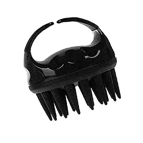 Hainice Champú Cepillo de baño Ducha Peine Cepillo Limpio del Cuero cabelludo Massager de Silicona Suave Masaje Body Wash Pelo Adelgaza Peine Negro