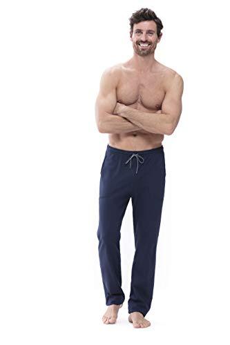 Mey Loungewear Club Coll. Herren Homewear Hosen Blau XL