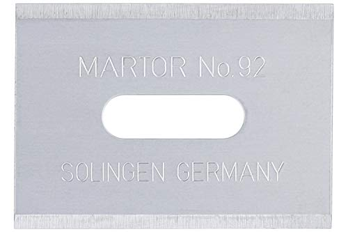 Veiligheidsmes SECUPRO MARTEGO/SECUPRO MERAK, naam: reservemes, roestvrij, 10 stuks, afmetingen 26 x 18,5 x 0,4 mm
