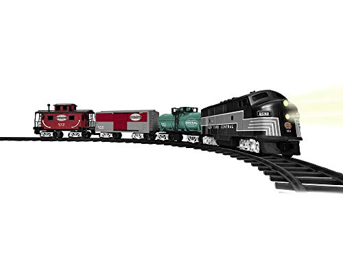 Lionel New York Central Ready-to-Play Set, Battery Powered Model Train Set with Remote