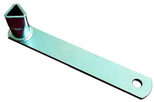 UvV DK3223 Dreikantschlüssel nach DIN 3223, für Absperrpfosten mit Dreikantverschluss, verzinkt blau passiviert (1)