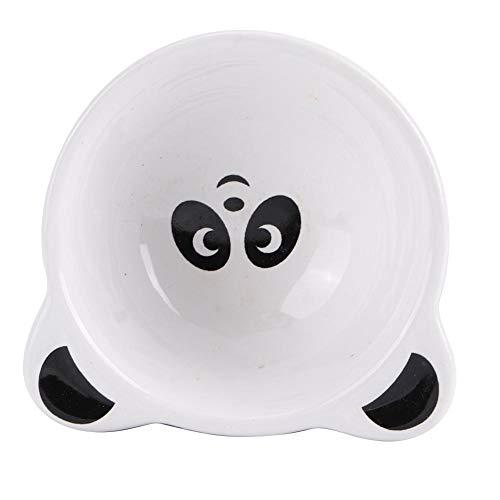 Cikonielf Hamster Food Bowl Feeding Bowl Small Animal Bowls Food and Water Bowl Hamster Ceramic Pet Dish for Small Animal(Panda)