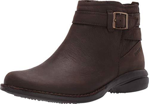 Merrell Women's Andover Bluff Waterproof Ankle Boot, Espresso, 10.5