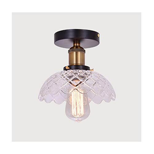 William 337 Moderne plafondlamp van glas van ijzer, plafondlamp, E27, 111V ~ 240V, garderobekast, keuken, balkon, huisdecoratie, verlichting [energieklasse A ]