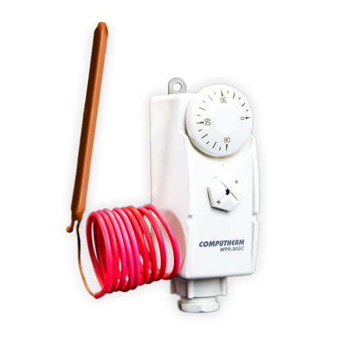 COMPUTHERM Termostato de inmersión WPR-90GC, con Vaina y Sensor Remoto, Controlador para Sistemas de calefacción, medición invasiva para valores Exactos, supervisión de circuitos de calefacción