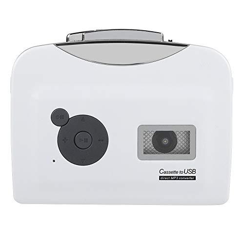 Kassettenkonverter, tragbares Kassettenband zu MP3-Konverter USB-Flash-Laufwerk Audio-Musik-Player aufnehmen, alte Kassetten oder Bänder auf USB-Flash-Laufwerk im MP3-Format übertragen, Plug-and-Play,