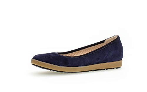 Gabor Bailarinas para mujer, media zapatilla para mujer, talla mediana, color Azul, talla 43 EU