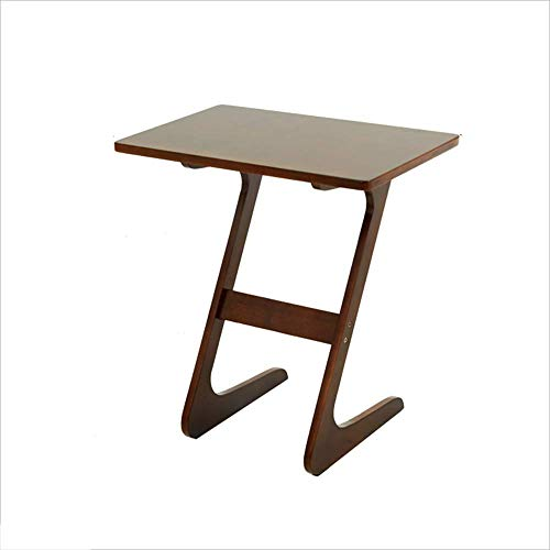 Axdwfd Table d'appoint Table basse en bois de bambou de haute qualité Table de lecture Canapé Salon Chambre Snack Table (marron)