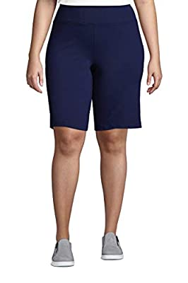 Lands' End Womens Active Relaxed Active Short New Deep Sea Navy Regular X-Large