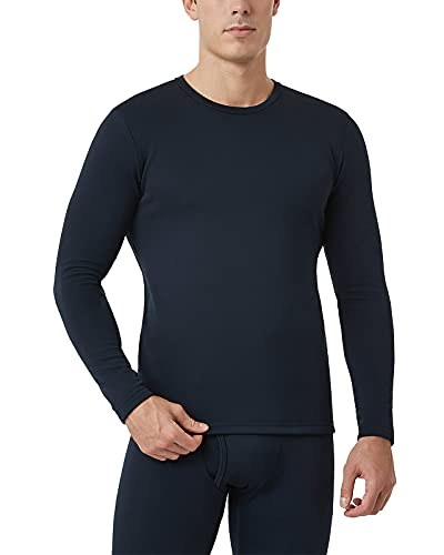 LAPASA Camiseta Termica Hombre Camiseta Manga Larga Ropa Termica Interior Invierno (Pack de 1 o 2) M26 M Azul