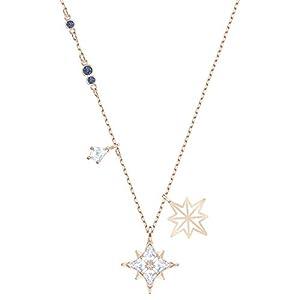 Swarovski Symbolic Star Anhänger, Rosé Vergoldete Damenhalskette mit Edlen Stern-Anhängern und Funkelnden Swarovski Kristallen