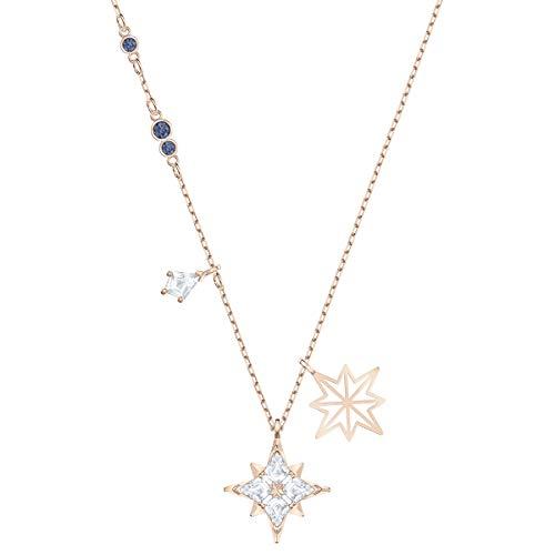 Swarovski Colgante Symbolic Star, blanco, Baño en tono Oro Rosa