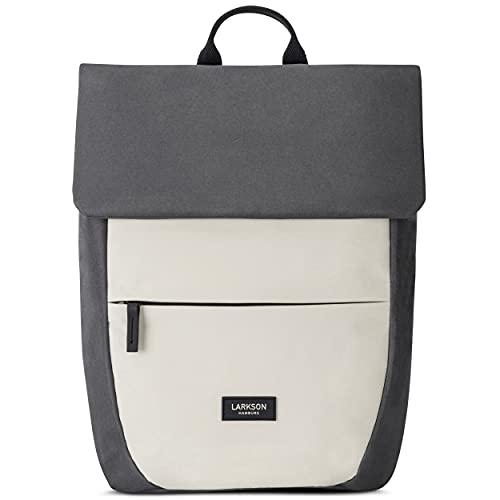 LARKSON Rucksack Damen Klein Sand/Anthrazit - RONJA - Moderner & Eleganter Daypack aus Recycelten PET Flaschen für Uni, Freizeit, Arbeit - Wasserabweisend & Laptopfach
