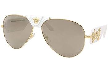 Versace Brown Aviator Mens Sunglasses VE2150Q 13415A 62