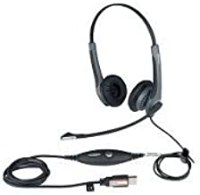 Jabra GN2000 USB CIPC DUO Headset. GN 2000 DUO NOISE CANCELLING USB CIPC PH-HD. Stereo - USB - Wired-6.80 kHz - Over-the-head - Binaural SNR - Semi-open - Noise Cancelling Microphone