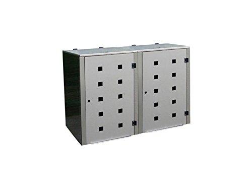 Mülltonnenbox Edelstahl, Modell Eleganza Quad5, 240 Liter als Zweierbox