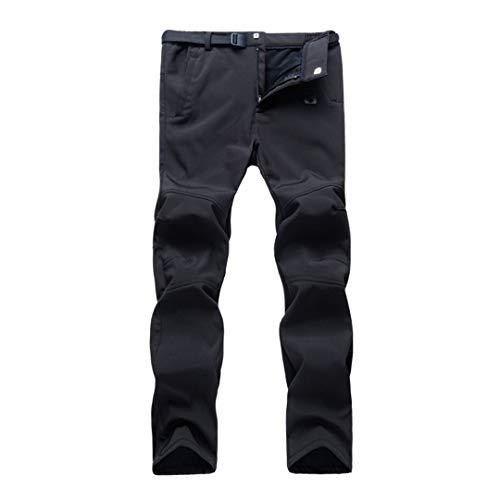 Drying Den Hiver Polaire Hommes randonnée Camping Pantalon imperméable Coupe-Vent Sport Pantalons en Plein air Plus la Taille Femmes Pantalons Chauds Men Black Euro Size S