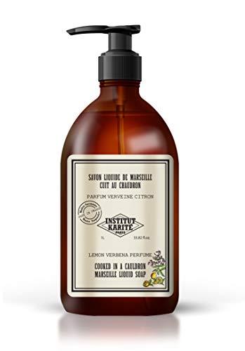 Institut Karité Paris – Savon de Marseille Liquide 1L – Soin Nettoyant et Hydratant pour les Mains et le Corps – Parfum Verveine Citron – So Vintage Soap
