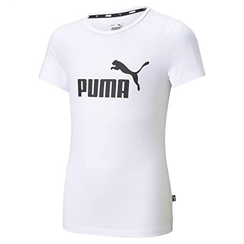 PUMHB #Puma Ess Logo Tee G, Maglietta Bambina, Puma White, 164