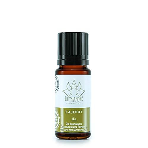 Ätherische Öle von DuftHarmonie | 10ml Duftöle für Diffuser, Duftlampfen | 100% Naturrein Essential Oil | Pflanzliche Aromatherapie für Luftbefeuchter, Massagen, Enstpannung (Cajeput)