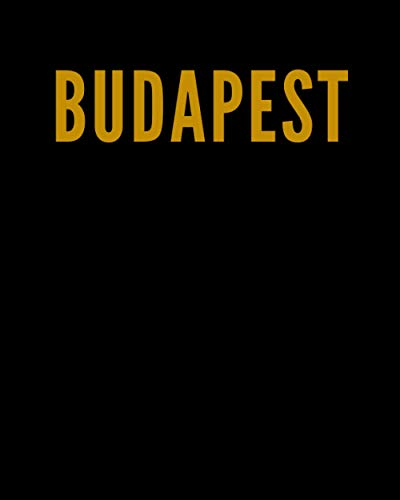 BUDAPEST: A Decorative GOLD and BLACK Designer Book For Coffee Table Decor and Shelves   You Can Stylishly Stack Books Together For A Chic Modern ... Stylish Home or Office Interior Design Ideas