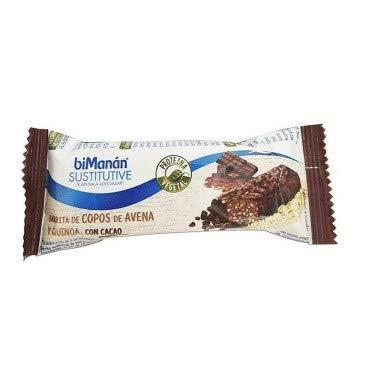 Bimanan Sustitutive Barrita Proteina Vegetal Copos Avena Quinoa y Cacao, 1x34g