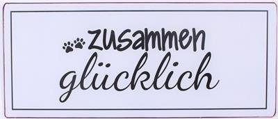 La Finesse Schild 'Zusammen glücklich'