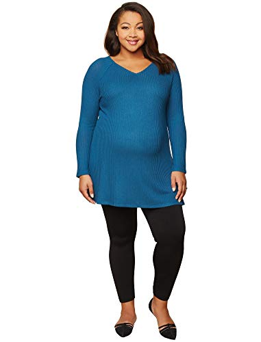 Motherhood Maternity Women's Maternity Full Length Fleece Lined Seamless Leggings, Black, Small/Medium