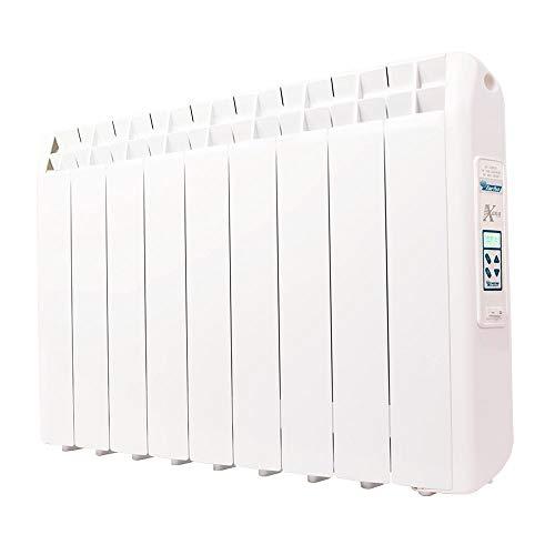 farho Radiador Electrico XP 990W (9) · Emisor Térmico con Termostato Digital Programable 24/7 · WiFi Opcional · Radiadores Electricos Bajo Consumo para estancias de hasta 15 m² · 20 AÑOS DE GARANTÍA