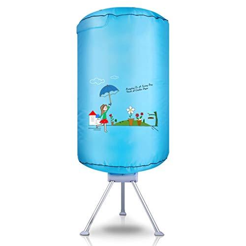 Xinxinchaoshi Portable Ventless Clothes Dryer Dryer Rack W/Heater Round Dryer Household Large Capacity Energy-Saving Dryer (Blue)