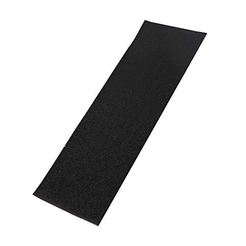 Grip Tape Aufkleber No Bubbles Deck Teile Anti Rutsch PVC Grobschleifpapier Elektroroller Skateboards Lochblech Professional(Schwarz)