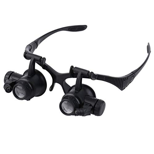 Dynamovolition 1pc 20x Lupa Lupa Gafas Lupa Lente Joyero Reloj Herramienta de reparación Lupa de joyero Manos libres anteojos piernas