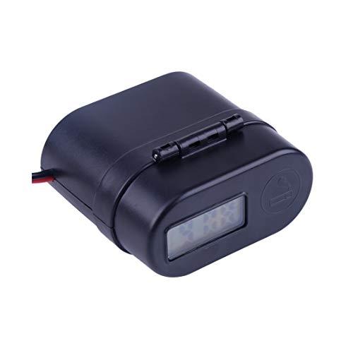 Motocicleta y marinos Interruptores, simple Switche coche 12-24 Negro LED manillar de la motocicleta impermeable del encendedor de cigarrillos con doble puerto USB cargador Interruptor del voltímetro,