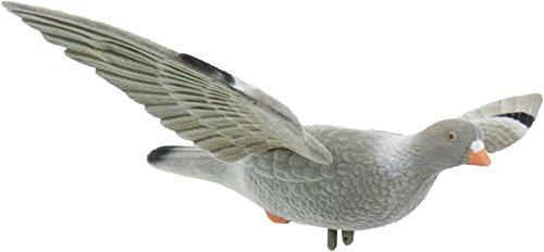EUROHUNT Locktaube mit Flügeln Inklusive Spiralfeder für Flügelschlag-Beflockt Lockvogel