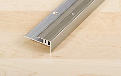 Proline Treppenkantenprofil ProSTEP Universal | für Bodenbeläge mit einer Stärke von 6,5-15mm, eloxiert Edelstahl, 100cm