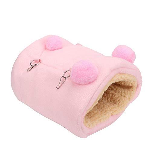 Leftwei Cama para Animales pequeños, casa Espesa para Mini hámster, hámsteres Ardillas fáciles de Instalar de Moda(Pink)