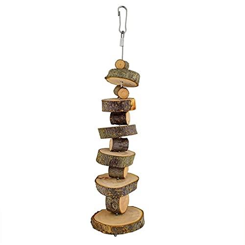 SeniorMar-UK Natürliches Bio Apfelholz Kauspielzeug 2er Pack Kleintier Snack Spielzeug Geeignet für Kaninchen Chinchilla Meerschweinchen Hamster Holz