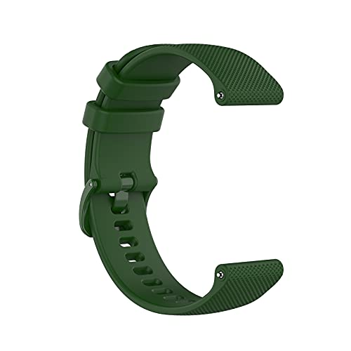 Correa de silicona compatible con Samsung Galaxy Watch Active 2/Active/Galaxy Watch 4 42 mm, ajustable, pequeña, diseño de cuadros, con hebilla de liberación rápida