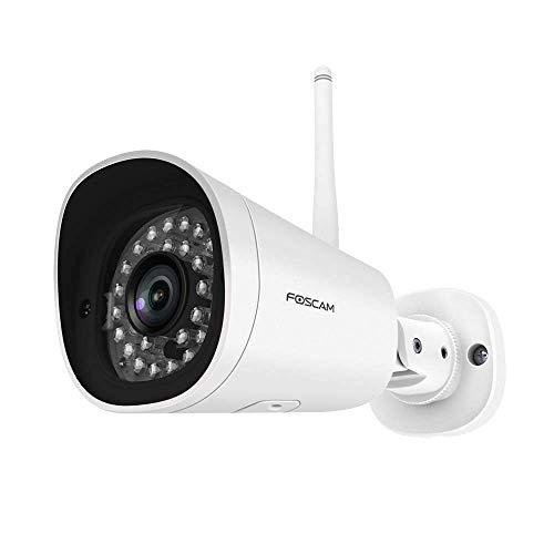 Foscam G4P - Weiße Super HD Outdoor IP Kamera mit 20m Nachtsicht, Bewegungserkennung, 4MP, IP-WLAN-Überwachungskamera u. Gegensprech-Zweiwege-Audio, wetterfeste Security-Cam mit microSD-Kartenslot