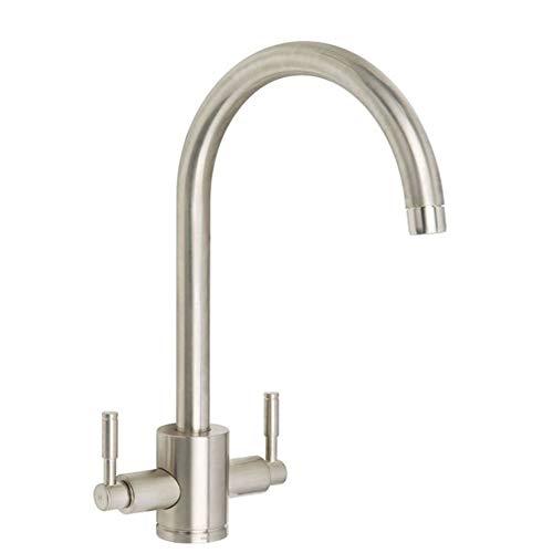 Rangemaster Aquatrend TRE1BF - Miscelatore per lavello da cucina spazzolato