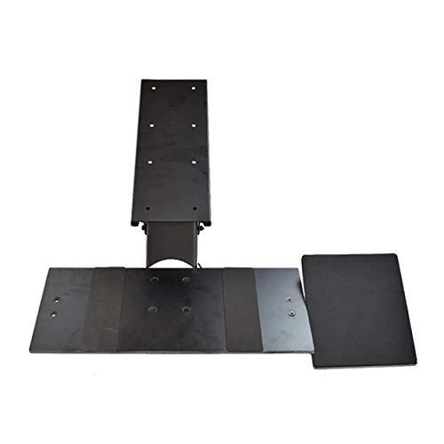 Uncaged Ergonomics KT1 Ergonomic Under-Desk Computer Keyboard Tray. Adjustable height angle negative tilt sliding pull out drawer platform swivels 360 slides office products, black