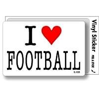 IL-020 I love FOOTBALL アイラブステッカー