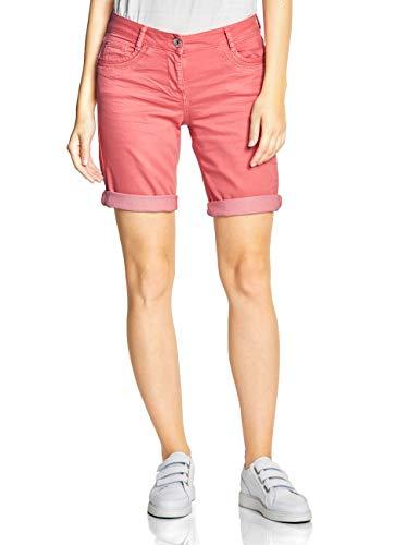 CECIL Damen 372198 New York Shorts per pack Rot (neo coralline red 11664), W33(Herstellergröße:33)