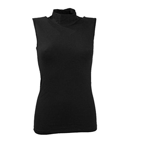 lupetto smanicato donna JADEA cotone elasticizzato art. 4058 (l/xl, nero)