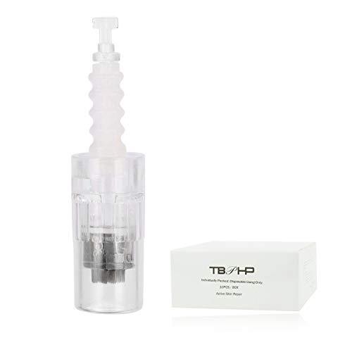 TBPHP Dermapen 42 Nadelpatrone Microneedling,10 sterile Nadelmodule,einzeln verpackt, Für Auto Electric Derma pen Derma Roller Gerät(Bajonett-Slot-Patronen)