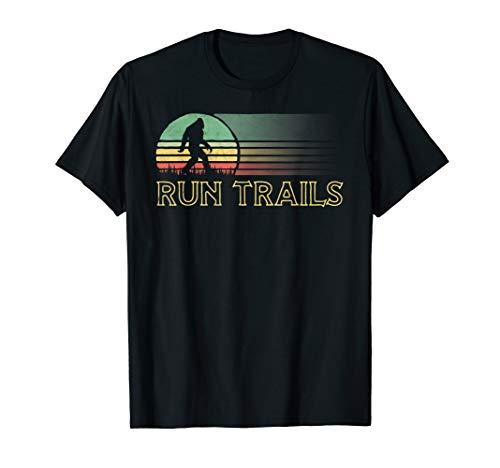 Run Trails Bigfoot Runner Race Ultra Run Graphic T-Shirt
